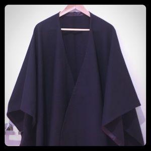 Purple oversized cape handmade